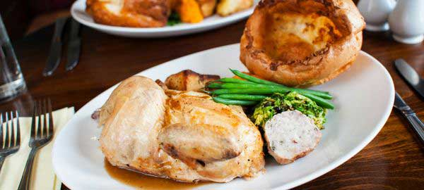 Family Sunday Roast at Cask Ales at The Joshua Bradley Pub & Restaurant in Stockport, Cheshire